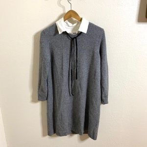 Joie Long Sleeve Collared Sweater Dress